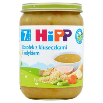Zupka rosołek z kluseczkami i indykiem - Hipp. Zdrowy obiad dla malucha.