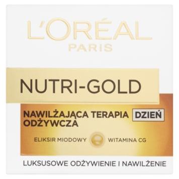 Krem odżywczy na dzień Nutri Gold Loreal to intensywna terapia nawilżająca skórę.