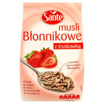 Sante - Musli błonnikowe z truskawką. Zdrowa porcja pysznego musli.