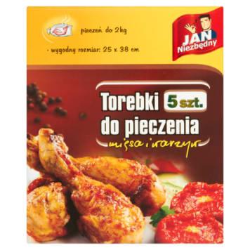 JAN NIEZBĘDNY Torebki do pieczenia 25x38cm (5szt) - do zdrowego pieczenia bez tłuszczu.