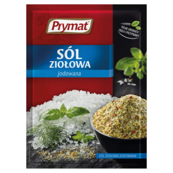 Prymat - Sól ziołowa 30g. Niesamowity smak i aromat wzbogacający każdą potrawę.