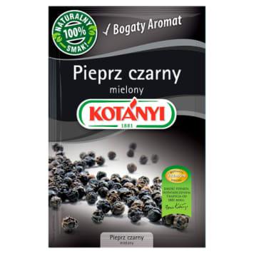 Pieprz czarny mielony 20g - Kotanyi. Niezbędny w każdej kuchni.