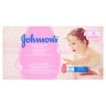 Oczyszczające chusteczki-Johnsons Baby. Delikatne chusteczki, odpowiednie nawet dla wrażliwej skóry.
