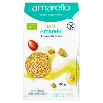 Ciasteczka Amarelki 80g AMARELLO - Duże talarki nie zawierające glutenu.