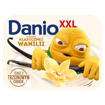Serek waniliowy - Danone Danio. Pyszna przekąska o doskonałej konsystencji.