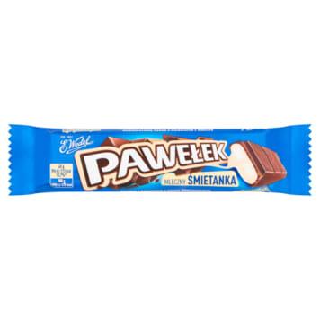 Baton czekoladowy z nadzieniem Pawełek – Wedel to śmietankowy smak dzieciństwa.