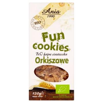Ciasteczka orkiszowe Fun Cookies - Bio Ania. Zdrowe ciasteczka z przyswajalnego dla organizmu orkiszu.