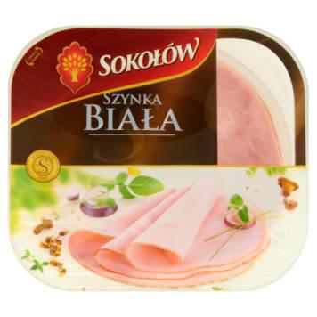 Szynka biała - Sokołów. Pyszne mięso pochodzące od znanego producenta.