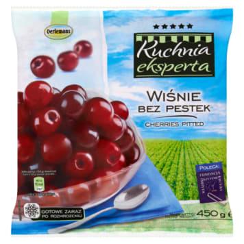 Mrożone wiśnie bez pestki - Oerlemans. Wygodna bezpestkowa forma ułatwia ich spożywanie.