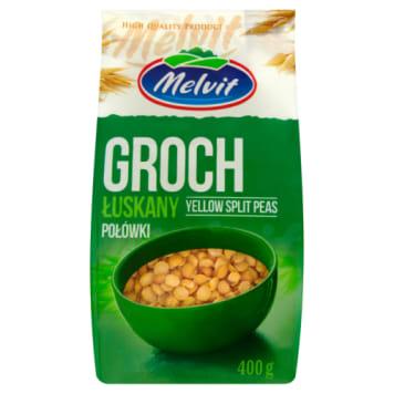Groch łuskany połówki - Melvit. Pełnowartościowe źródło białka.