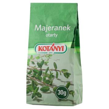 Majeranek otarty 30g - Kotanyi. Nadaje potrawom smak i aromat.