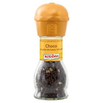 Czekolada w młynku – Kotanyi. Pozwala dodawać czekoladę do deserów w wybranej ilości.
