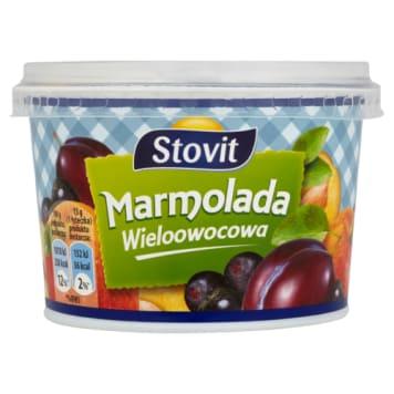 Marmolada wieloowocowa 320g STOVIT. Słodka miękka marmolada, pełna soczystych owoców.