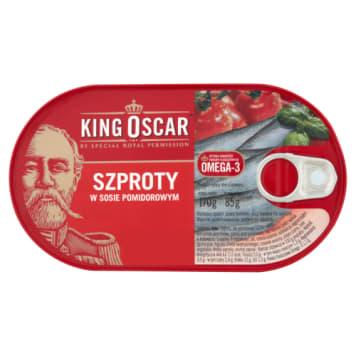 Szproty w sosie pomidorowym 170g - King Oscar