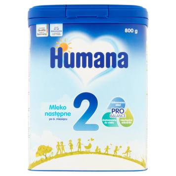 HUMANA Mleko następne 2 (po 6 miesiącu życia) 800g z witaminami i minerałami niezbędnymi niemowlęciu
