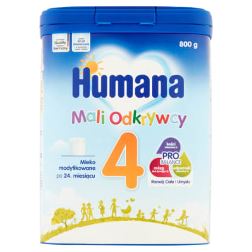 Humana - Mleko dla dzieci po 24 miesiącu. Wytworzone z myślą o najmłodszych.