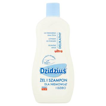 Żel i szampon - Dzidziuś. Produkt 2w1 przystosowany do delikatnej skóry dziecka.