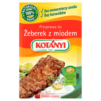 Przyprawa do żeberek z miodem - Kotanyi. Dobry pomysł na każdy obiad.