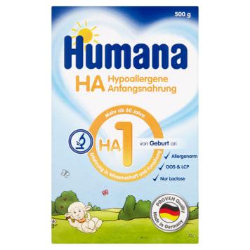 Humana - Hipoalergiczne mleko początkowe HA1 od urodzenia. Przeznaczone dla niemowląt.