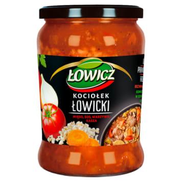 Łowicz - Kociołek do syta Tradycyjny. Gotowe danie z kaszy, mięsa wieprzowego i sosu pomidorowego.