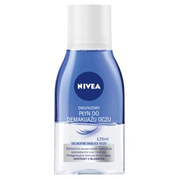 Nivea - Dwufazowy płyn do demakijażu oczu. Delikatnie oczyszcza i pielęgnuje wrażliwą skórę.