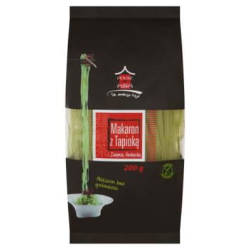 Makaron ryżowy z zieloną herbatą to kwintesencja smaków Azji - ryż, herbata i tapioka.