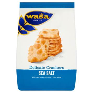 Krakersy z solą morską - Wasa Delicate Thin Crackers. Pyszna przekąska z najlepszymi dodatkami.