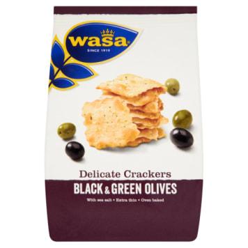 Krakersy z oliwkami Delicate Thin Crackers - Wasa. Tradycyjna chrupiąca przekąska.