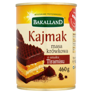Bakalland – masa krówkowa o smaku tiramisu, 460 g. Świetnie sprawdza się do słodkich deserów.