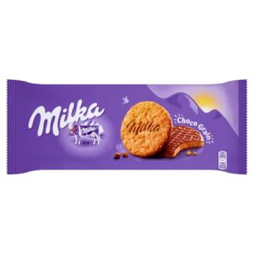 MILKA ciastka Choco Grains 126g. Ciasteczka czekoladowo-owsiane dla dużych i małych łasuchów.