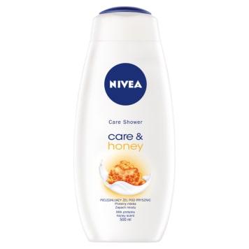 NIVEA żel pod prysznic care&honey 500ml - świetnie myje i cudownie nawilża skórę w czasie kąpieli.