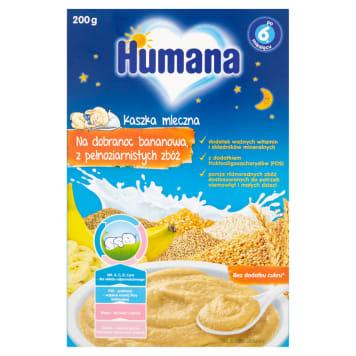 Humana - Kaszka mleczna bananowa pełnoziarnista. Pyszna kaszka dla małych łasuchów.
