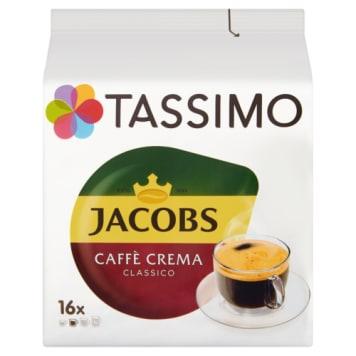 Kawa w kapsułkach Crema Classico – Tassimo. Średniej wielkości kawa w kapsułkach ukryta pod pianką.