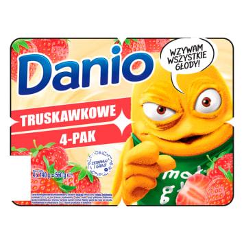 Serek truskawkowy - Danone Danio. Jeden z najbardziej znanych producentów serków i jogurtów.