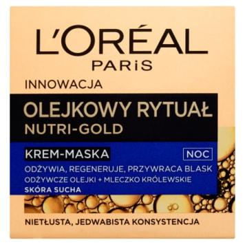 Krem-maska na noc Olejkowy rytuał - L'Oreal Nutri Gold - zachowaj zdrowy wygląd skóry na dłużej