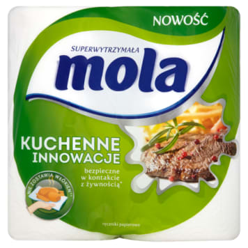 Ręczniki papierowe Kuchenne Innowacje Mola są wytrzymałe i bezpieczne w kontakcie z żywnością.