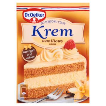 Krem do tortów i ciast o o smaku waniliowym - Dr. Oetker nadaje się do dekorowania wypieków.