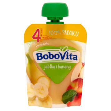 Bobovita Pierwsza Łyżeczka Jabłko, Banan po 4.miesiącu to lekki owocowy mus dla niemowląt.