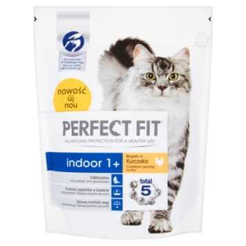 PERFECT FIT INDOOR 1+ Complete Dry Food for Adult Cats - Rich in Chicken 750g