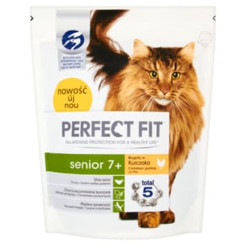 PERFECT FIT SENIOR 7+ Complete Dry Food for Elderly Cats - Rich in Chicken 750 g
