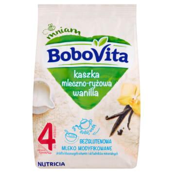 Kaszka mleczno-ryżowa waniliowa - Bobovita. Sycący posiłek dla dzieci po 4. miesiącu życia.