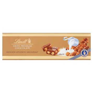 Czekolada Milk Hazelnut Lindt Gold łączy czekoladę mleczną i orzechy laskowe w unikalnej recepturze.