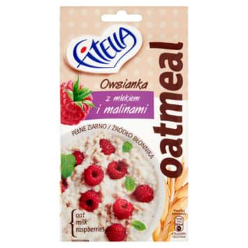 Płatki owsiane - Fitella Slim Effect. Doskoanały smak zapewniający chwile przyjemności podczas przerwy.