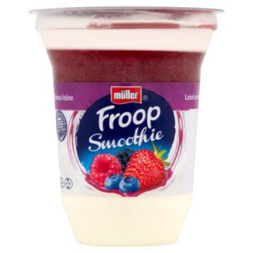 Muller - Jogurt z musem o smaku owoców leśnych. Doskonała przekąska w czasie pracy.