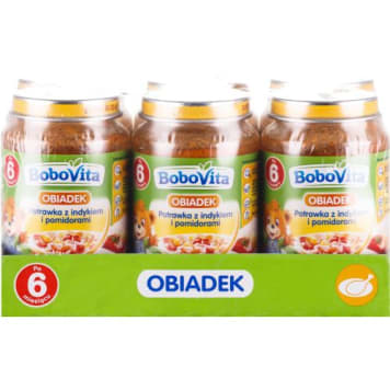 BOBOVITA Obiadek Vegetable Turkey Tomato Meal - After 6 months 1.14kg