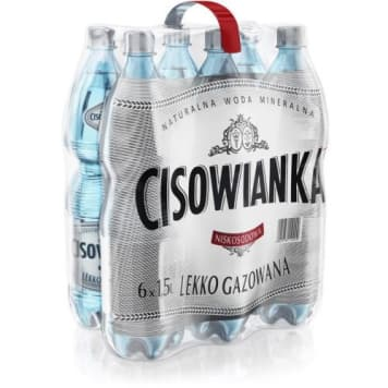 CISOWIANKA Natural mineral sparkling (light) water 9 l