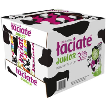 ŁACIATE JUNIOR UHT Milk 3,8% Fat 12l