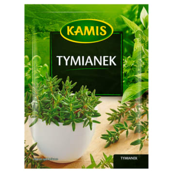 Kamis-Tymianek 10 g. Podkreśla smak potraw i nadaje im wysublimowanego charakteru.