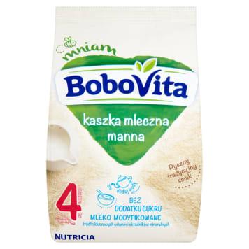 Mleczna kaszka manna - Bobovita. Zdrowy, pełnowartościowy posiłek dla dzieci po 6 miesiącu życia.