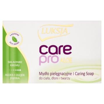 Mydło w kostce Aloe&Jojoba - Luksja Care Pro o właściwościach pielęgnacyjnych - dla skóry suchej.